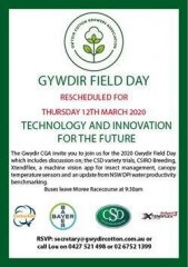 Gwydir Field Day Thursday 12th March