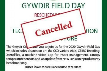 Gwydir Field day cancelled